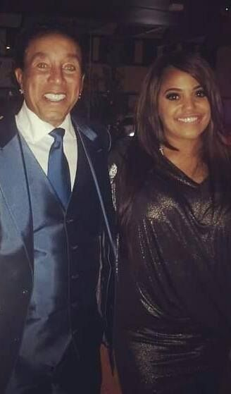 "William ""Smokey"" Robinson and his daughter, Tamla (BET Awards, June 2015)"