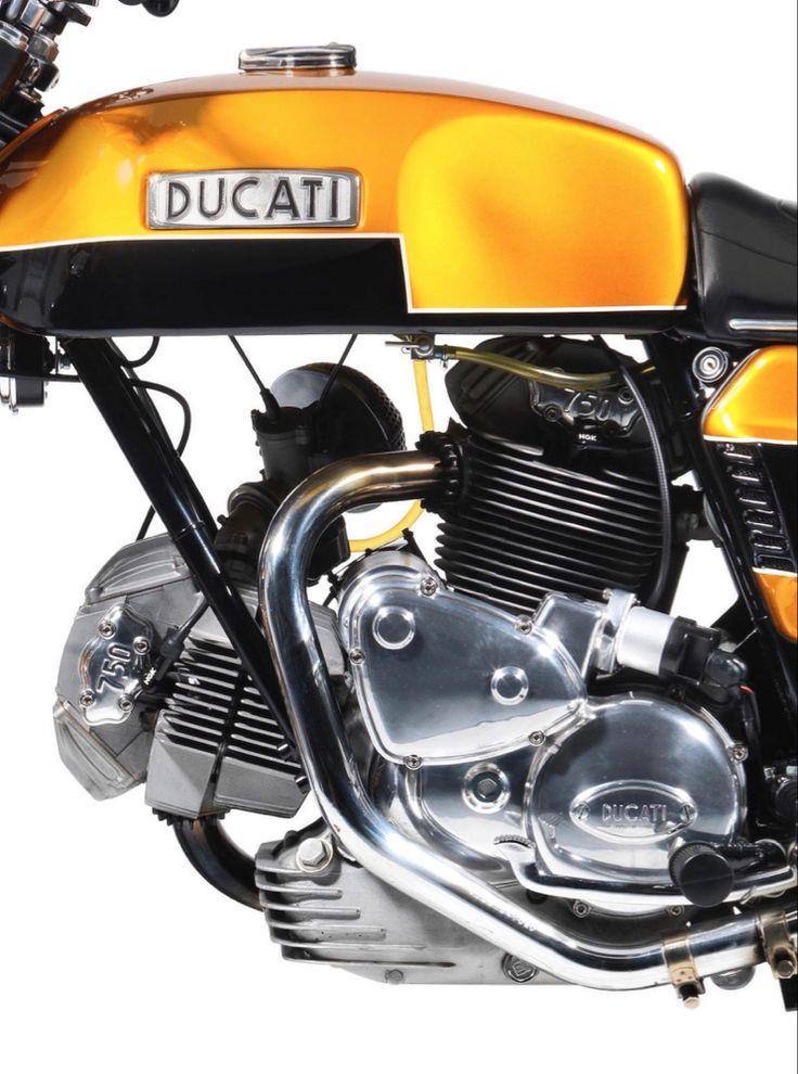 Der erste Ducati Production L-Twin – Der Ducati 750 GT – Ducati 750 – #die #Du …   – Schönes Motorrad