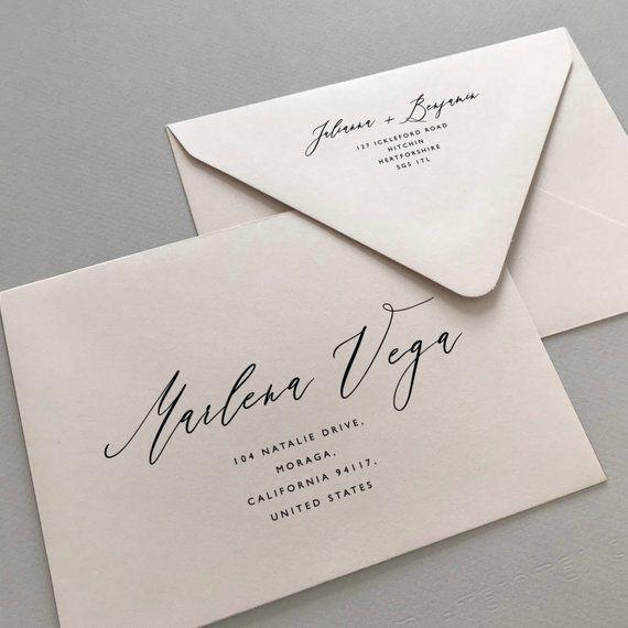 Printable Envelope Addressing Template