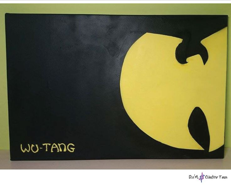 -WU-TANG CLAN LOGO -Water markers and spray paint on canvas -Measures: 40x60 cm