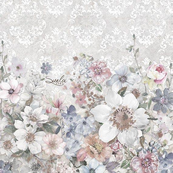 White flowers Paper Napkin Serviette For Decoupage Scrapbooking Paper Crafts