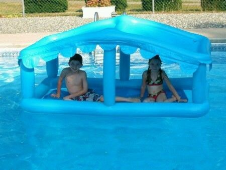 Floating Swimming Pool Sun Shade Canopy Cabana Inflatable Pool Gifts Sun Shade Canopy