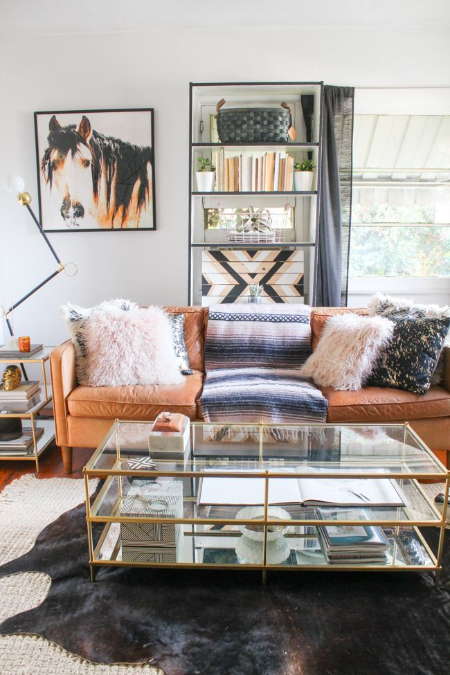 Tour A Western Modern Glam Living Room Glam Living Room Western
