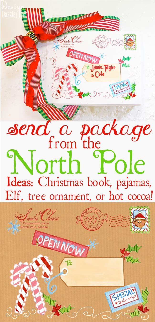 "Christmas Eve Box: This idea isn't about getting more gifts. It's about a special tradition that your family does and receiving the items in a very FUN way - either on Christmas Eve or before Christmas! Now you know Santa gets a lot of credit for Christmas. Personally - I would tell my kids or grandkids that I have an ""in"" with Santa and he is going to deliver something special before Christmas. See more ideas details on the post. Love the ""freezer"" idea. Design Dazzle #christmaskids ..."