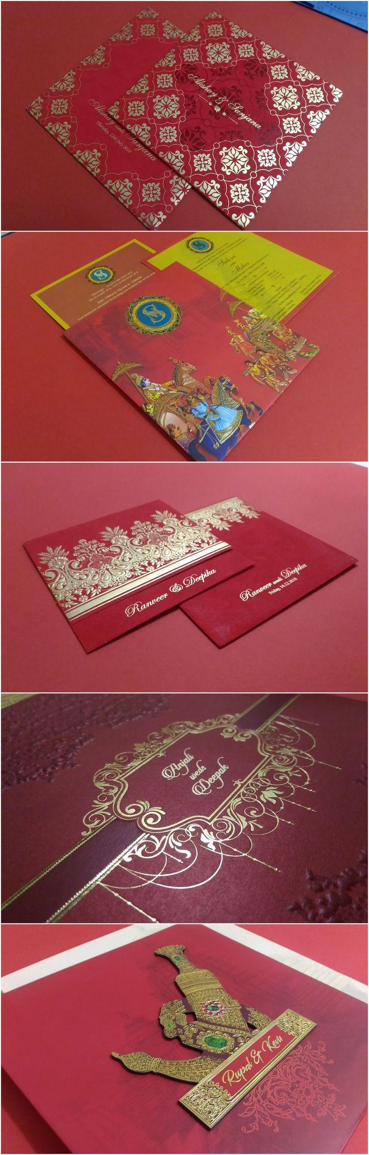 Red hindu wedding invitationsweddings weddinginspiration handmade
