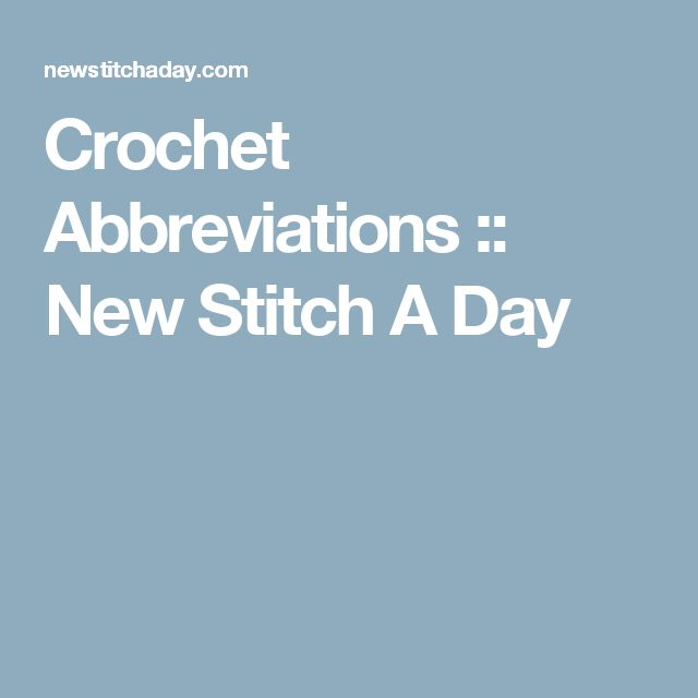 Crochet Stitches Abbreviations Pdf : ideas about Crochet Abbreviations on Pinterest Crocheting, Crochet ...