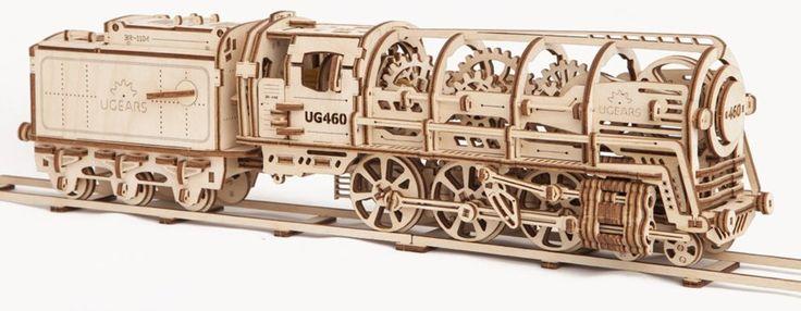 Ugears 3D mechanické puzzle Parní lokomotiva s vagónem