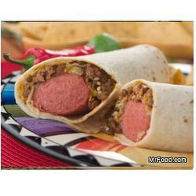 Tortilla Dogs, bet they'd be yummy texas style with jalepeno and cheddar opas sausage and some queso!