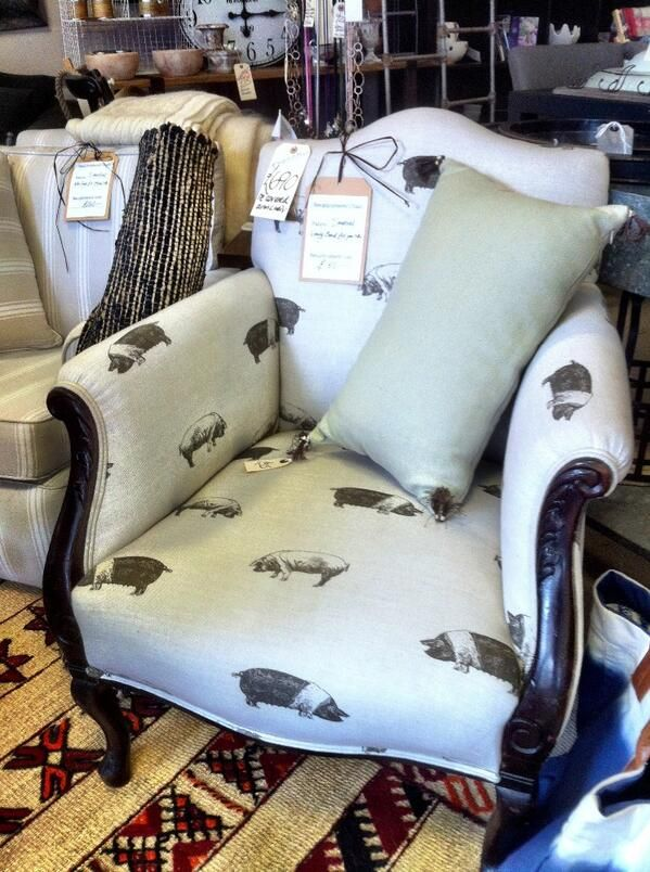 Chair Upholstered In Emily Bond Saddleback Pig Fabric, By Http://www.