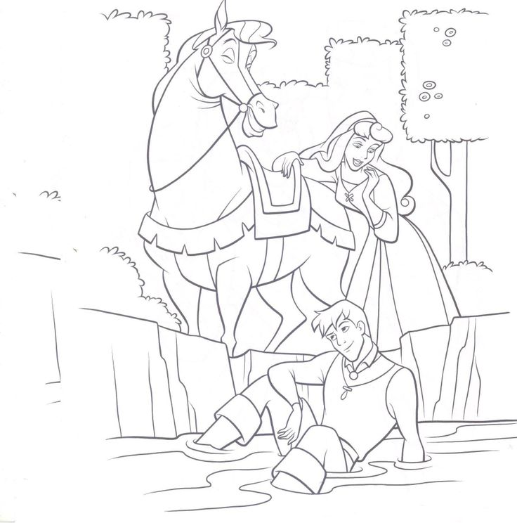 disney prince phillip coloring pages - photo#30