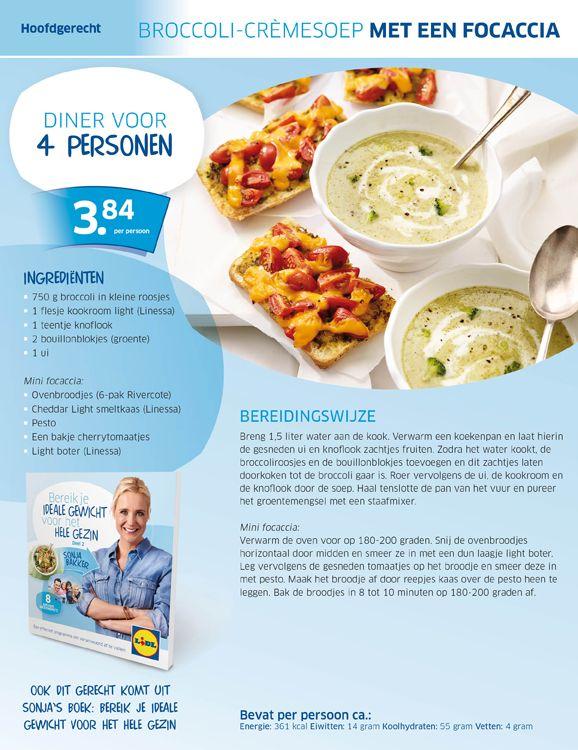 Broccoli-cremesoep -(lighter) Cream of Broccoli Soup (recipe is in Dutch)