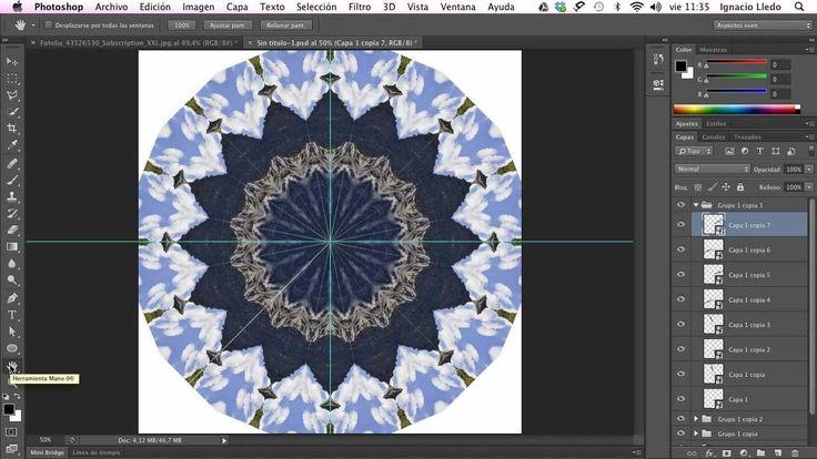 Crear fondos y efectos a partir de un Caleidoscopio en Photoshop