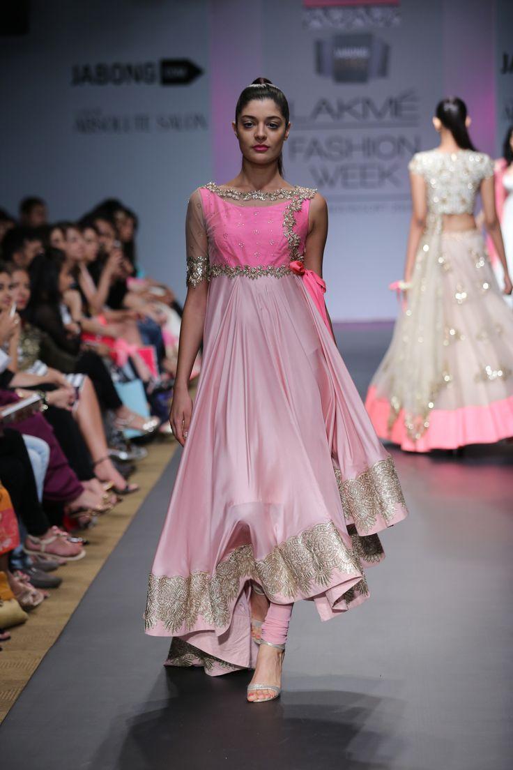 Beautiful #Anarkali with asymmetrical hemline
