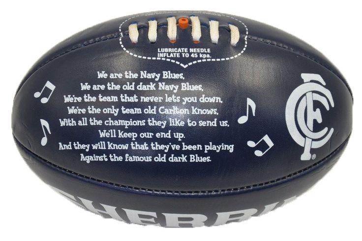 Carlton Blues Team Song Ball