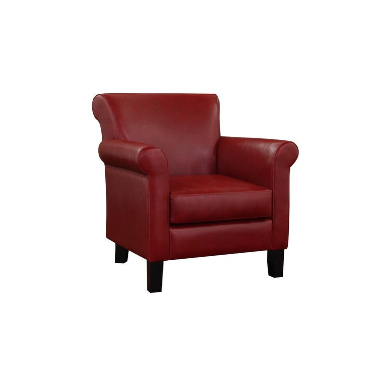 cosmopolitan burnt red leather arm chair by i love living - Arm Chairs Living Room