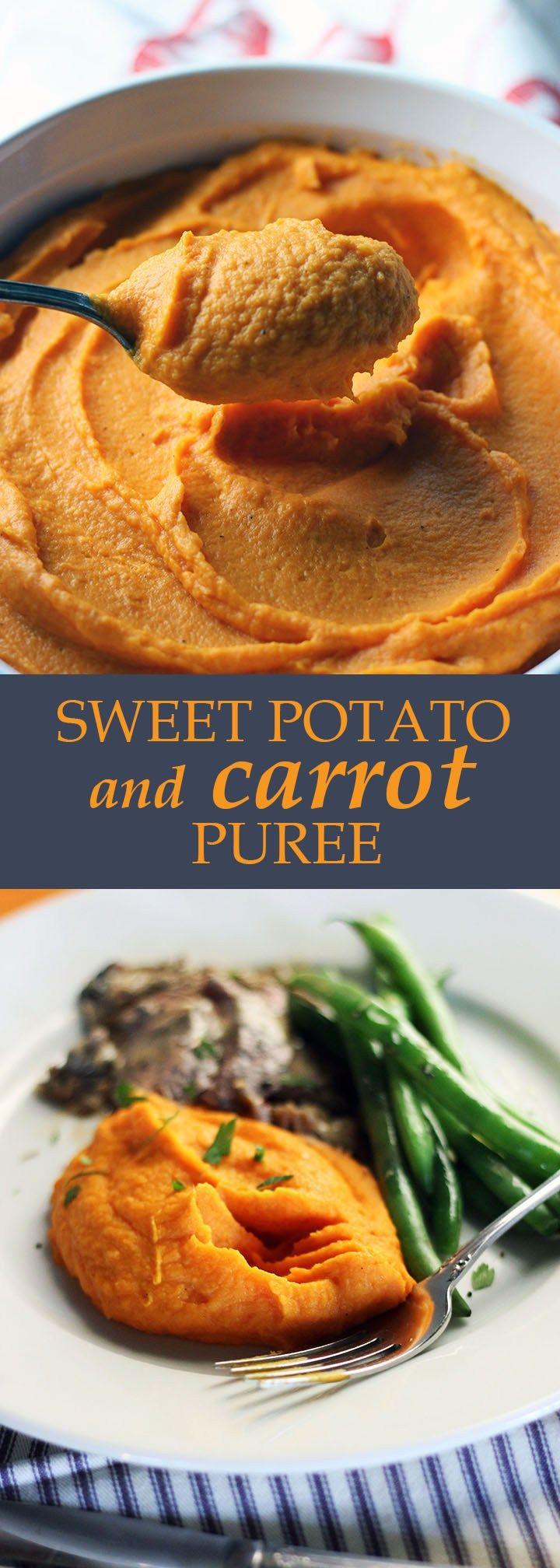 Sweet Potato Carrot Puree   www.thetableofcontents…