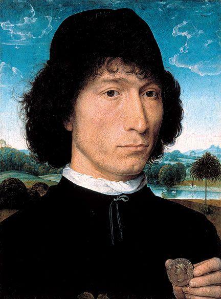 Ганс Мемлинг. Портрет мужчины с римской монетой (до 1480, Антверпен)