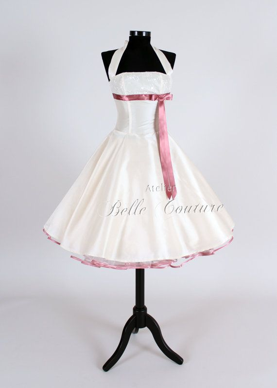 Custom Made & Handmade  50s wedding bridal by atelierbellecouture