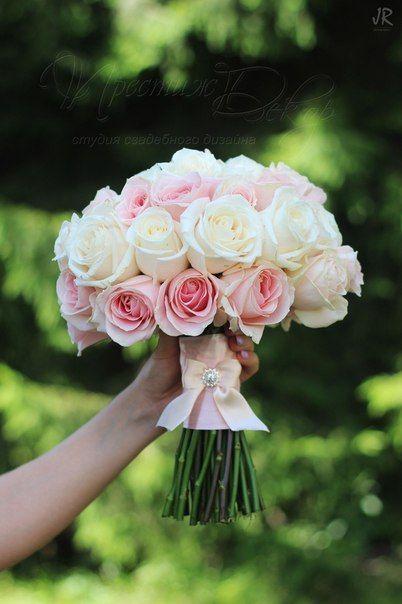 свадьба летний букет невесты из роз