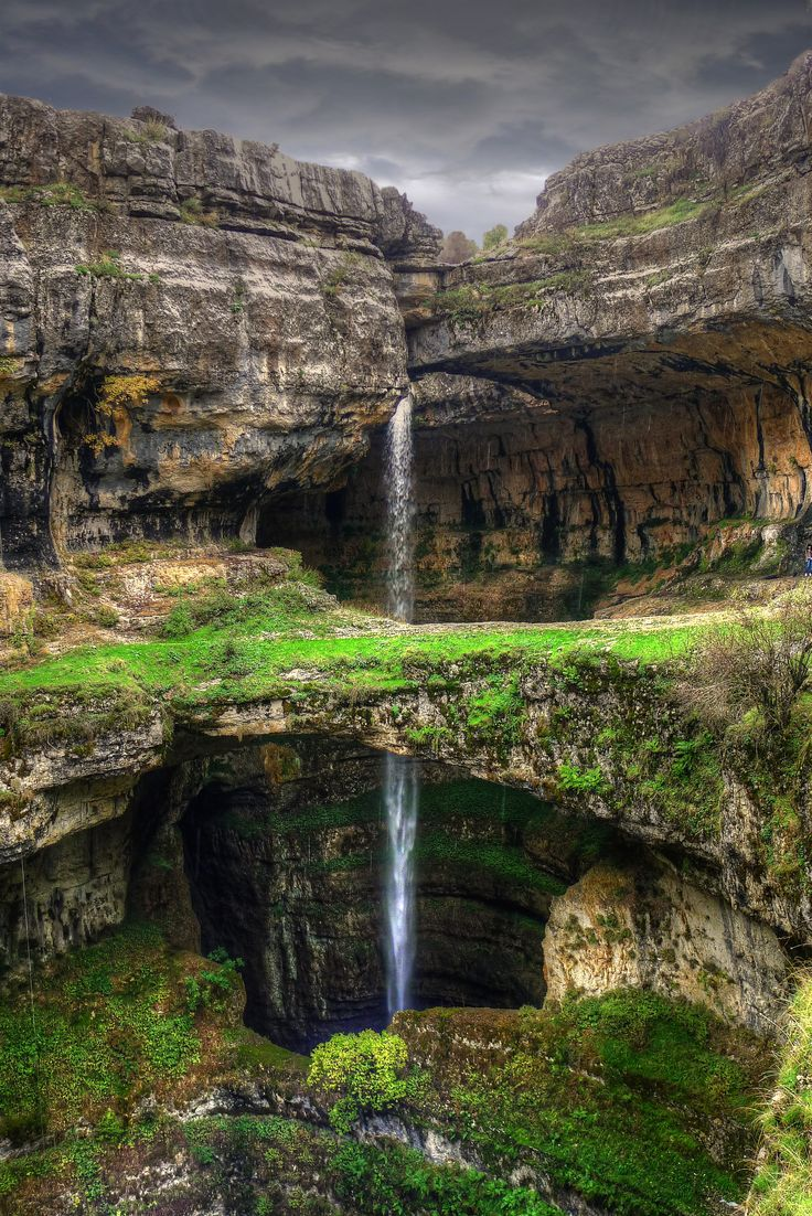 Baatara Gorge Waterfall  Tannourine  Lebanon