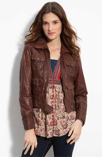 Lucky Brand Leather Jacket | clothes. | Pinterest