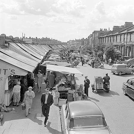 Ridley Road, Hackney, c 1963 John Gay, via English Heritage