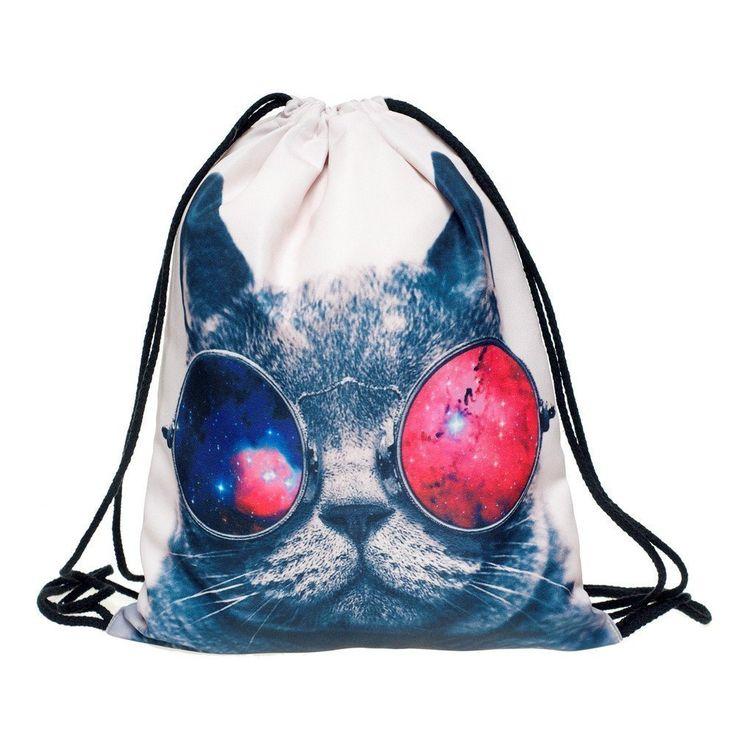 Beutel Galaxy Sunglasses Cat Katze Aufdruck Fullprint Tasche Gymsac Turnbeutel Jutebeutel Print Bag Fitness [010]: Amazon.de: Koffer, Rucksäcke & Taschen