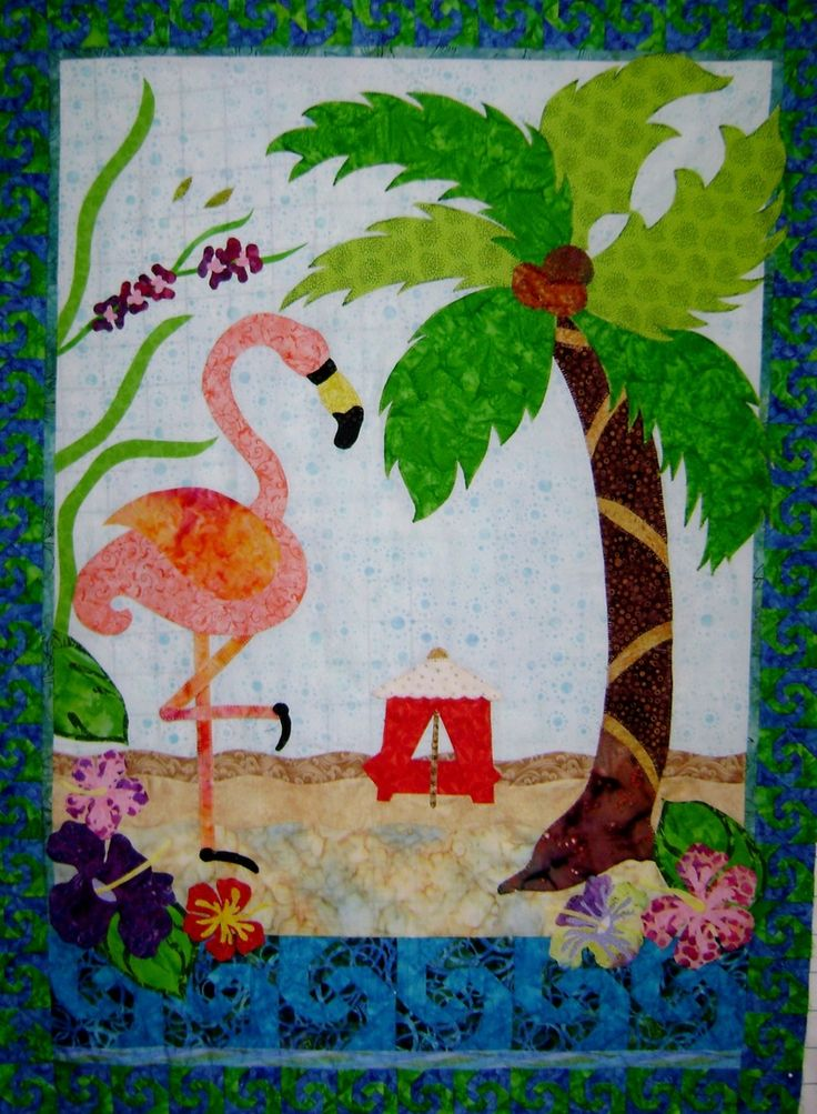 17 Best Images About Flamingos Quilts On Pinterest