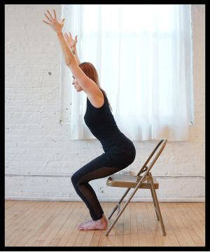 1000 images about chair yoga on pinterest  yoga poses