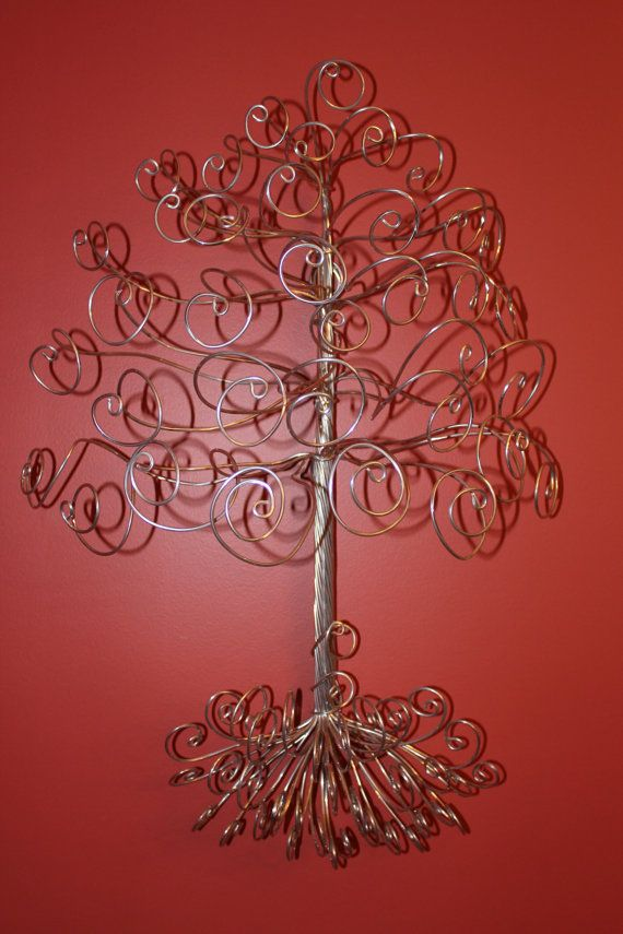 17 best images about bedroom enchanted forest project on for How to make a wire tree jewelry stand