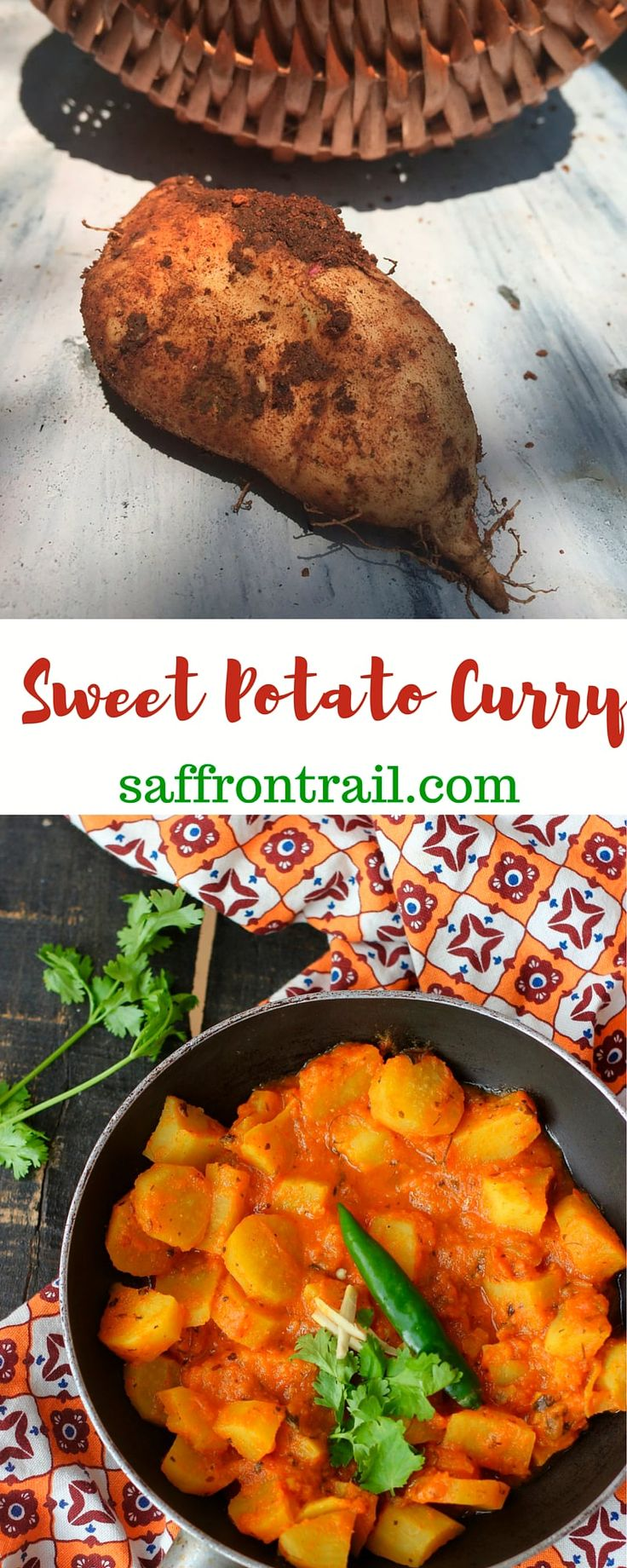 A mildly spicy North Indian style Sweet Potato Curry that you can serve with rice or roti/ naan. The spices in the curry add lots of flavour to the mild tasting sweet potatoes. Ready in 20 minutes!