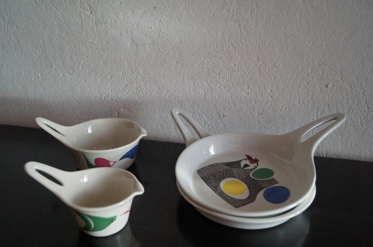Vintage Figgjo Flint Schalen Set von Fr. T. Vintage auf DaWanda.com