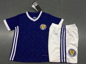 2018 Cheap Youth Kit Scotland Home Replica Navy Suit [BFC616]
