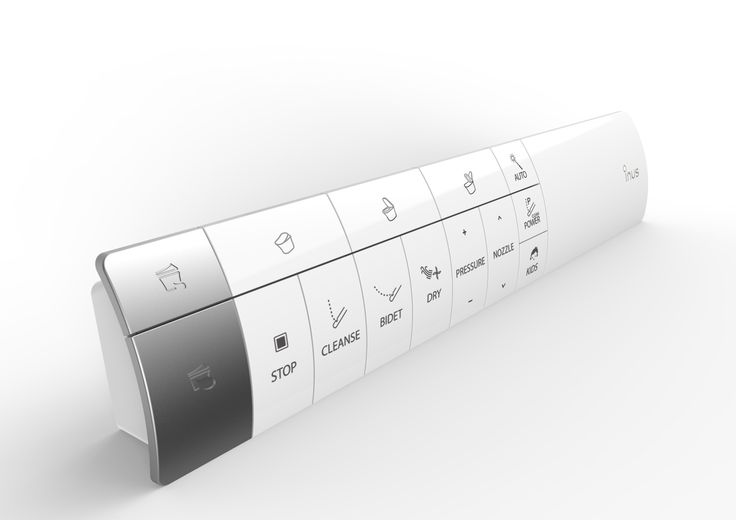 "Intelligent Stick Remote Control for INUS Bidet Attached Water Closet ""IW2000"". - Product & U.I Designed by In-House Team."