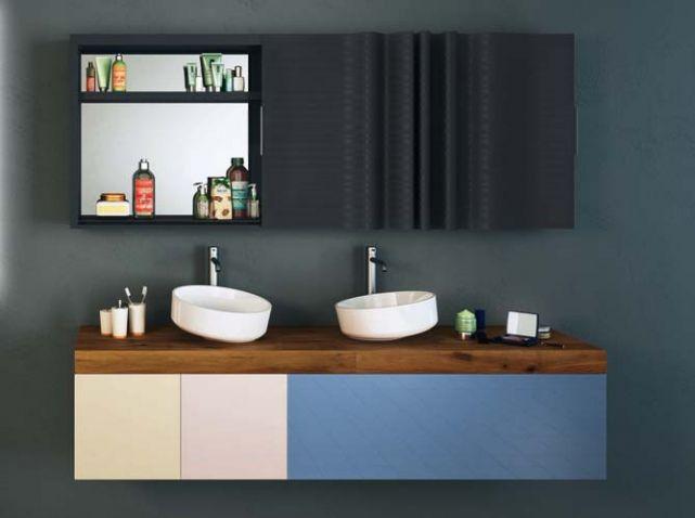 Pratiques et déco les doubles vasques ! #salledebain #bathroom #vasque #doublevasque