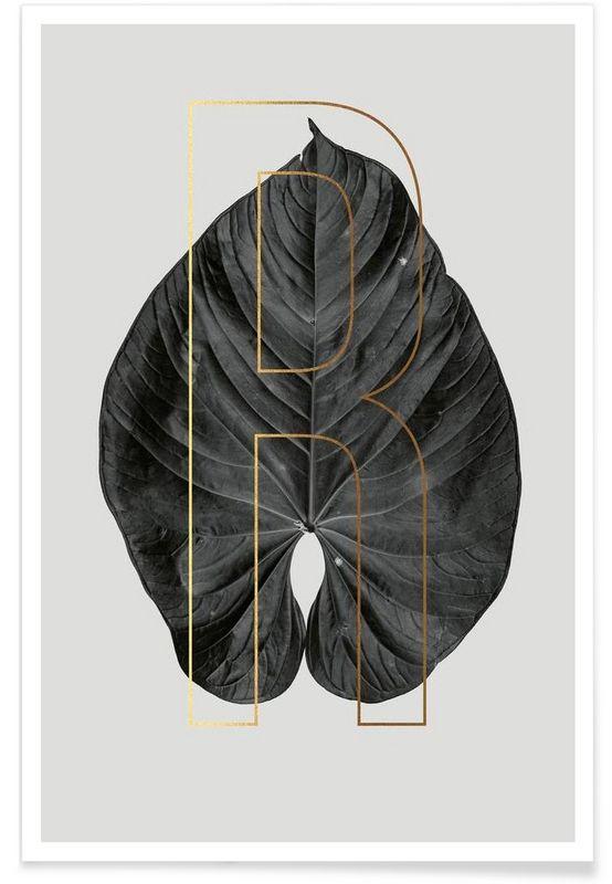 Plants R als Premium Poster von typealive | JUNIQE