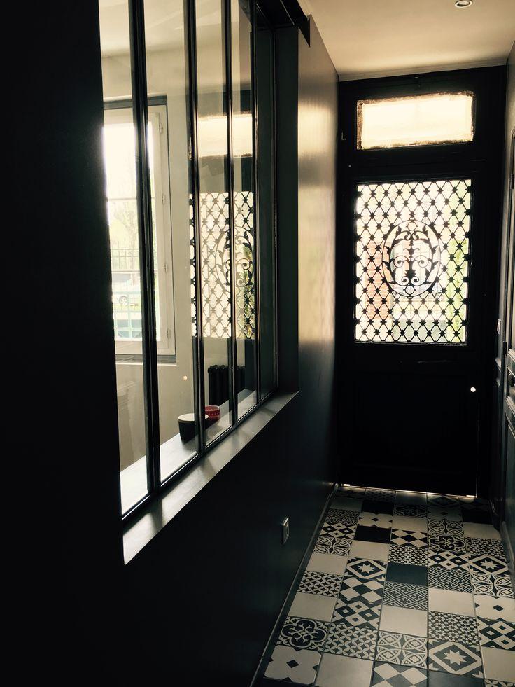 Good entre porte ancienne carreau ciment leroy merlin et for Cloison esprit atelier