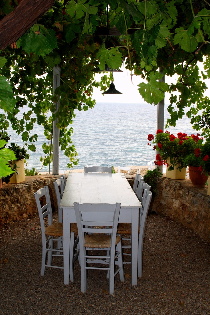 ~ A small taverna in Kardamili, Greece ~
