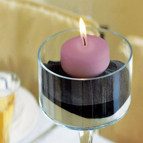 Colored floating candles bridal shower decorationswedding