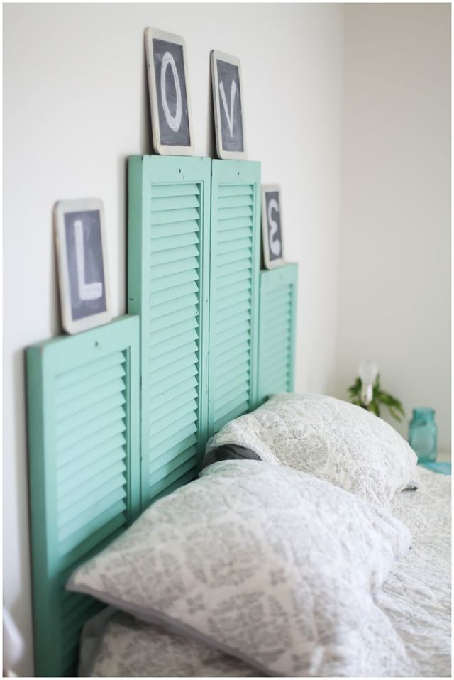 Up cycling on shutters. I don't know what I'd do with this but I like the idea of using them