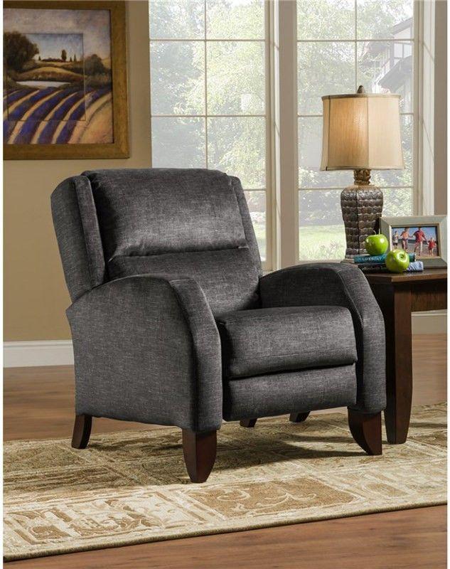 Jameson Leather Recliner Fine FurnitureReclinersSteel 54