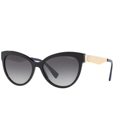f3c90333b2 Versace Polarized Sunglasses, VE4338 - Black in 2019   Accessories ...
