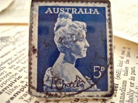 Dame Melba 1961 Australia Vintage Stamp is Set in by SilverGypsys, $48.00
