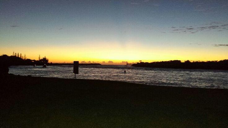 Sunrise on the Tweed river. Tweed Heads NSW.