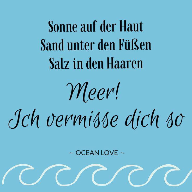 Sonne auf der Haut, Sand unter den Füßen, Salz in den Haaren: Meer! Ich vermisse dich so .. | Sprüche | Zitate | schöne | lustig | Meer | Ozean | Wanderlust | Reisen | Travel | Journey | Inspiration | Meerweh | Ocean Love | Motivation | Quotes #sprüche #fernweh #meerweh #travel #wanderlust #explore #beach #strand #urlaub