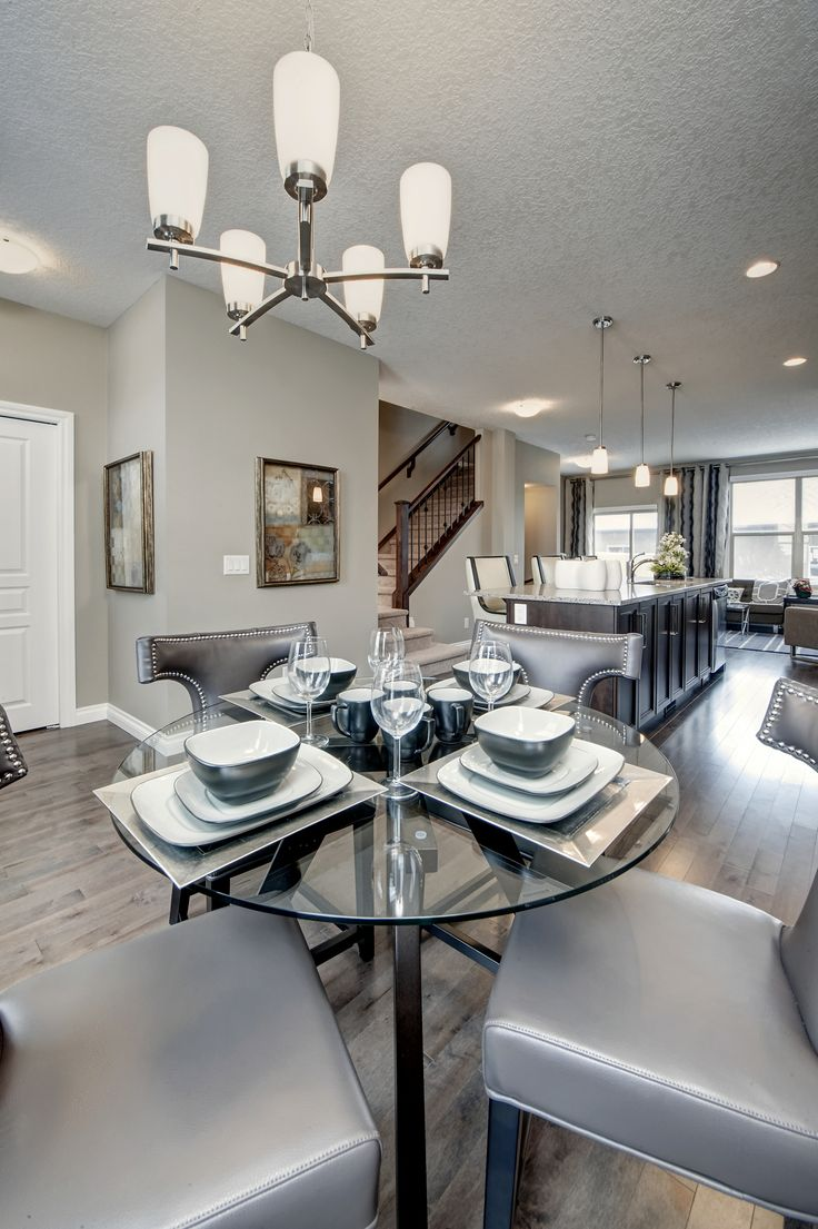 Dining room design from the Roxbury Brownstones in Sage Meadows, Calgary