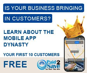 Mobile Commerce System for Local Businesses including a mobile app and free marketing tools to reach customers instantly! Check out paid2save app in the app store use access code 72616. Earn money for sharing the app to your customers when they spend money at other participating businesses including big box stores. It a win win for everybody.