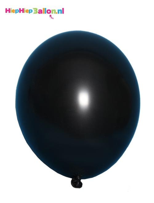 Zwarte helium ballonnen vullen met helium. www.hiephiepballon.nl