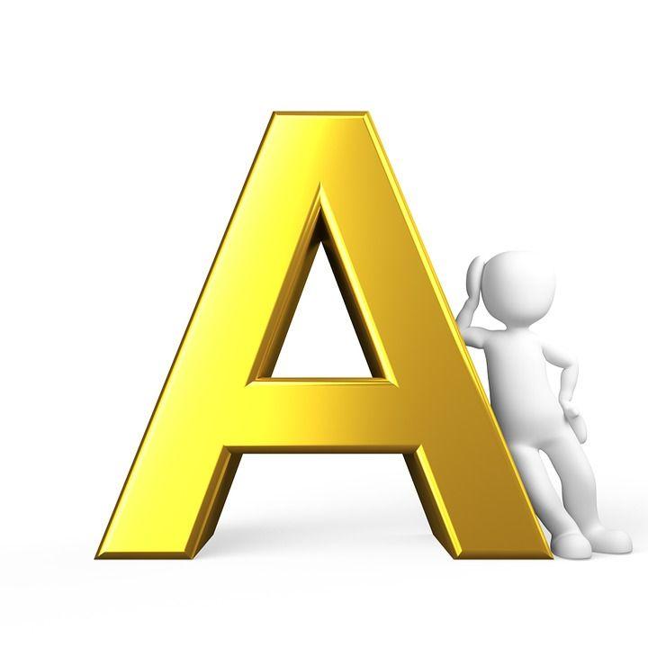 A, Carta, Orden Alfabético, Por Orden Alfabético, Abc