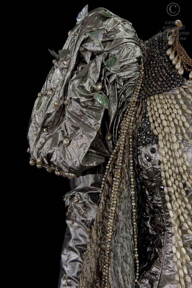 Atelier de couture de l'Opéra Garnier Paris, costume for Isabelle, Princesse de Sicile in Meyerbeer Robert-le-diable opera, silver lamé (Paco Rabanne),  plastic leaves